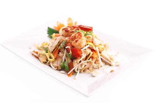Pad thai gamberi